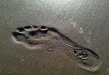 correr descalzo en arena sin zapatillas