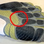 Detalle de desgaste de la suela